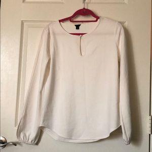 Ann Taylor Cream Blouse size M